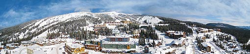 Big White Ski Resort Aerial Panorama, BC, Canada