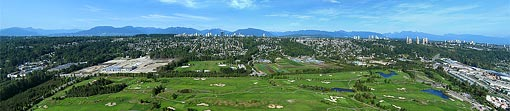 Aerial Panorama - Riverway Golf Course and Driving Range