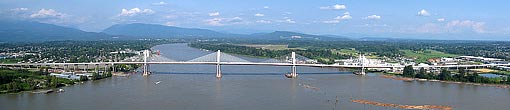 Golden Ears Bridge - Aerial Panorama