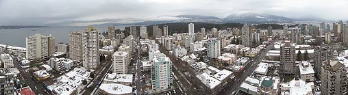 Vancouver West End - Aerial Panorama
